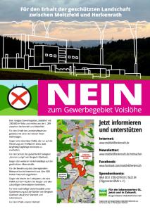 Plakat Nein Voisloehe